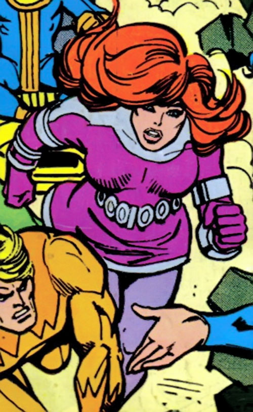 Titania of the League of Super-Assassins (LSH DC Comics) rushing in