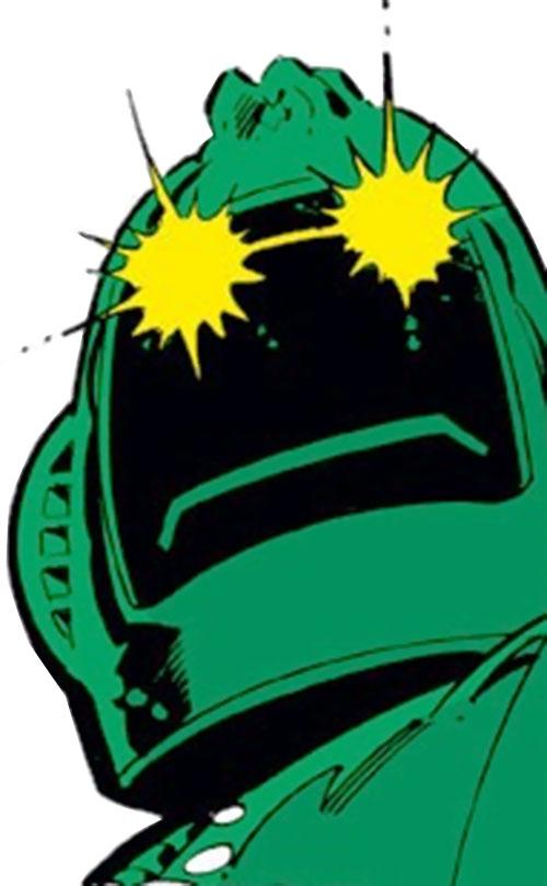 Titanium Man (Iron Man classic enemy) (Marvel Comics) helmet with glowing eyes