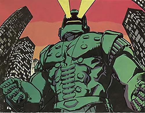 Titanium Man (Iron Man classic enemy) (Marvel Comics) shooting eyebeams