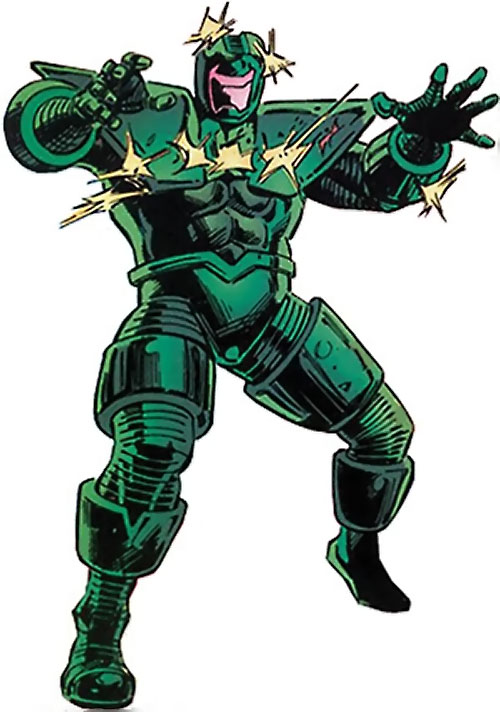 Titanium Man (Iron Man classic enemy) (Marvel Comics) ignoring gunfire
