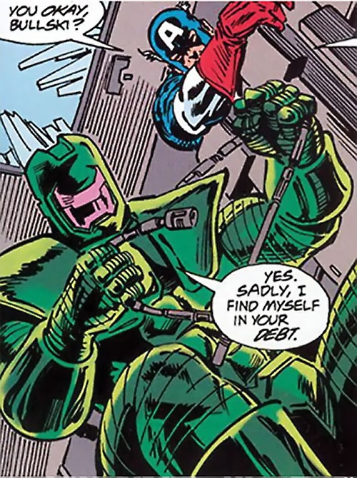 Titanium Man (Iron Man classic enemy) (Marvel Comics) and Captain America
