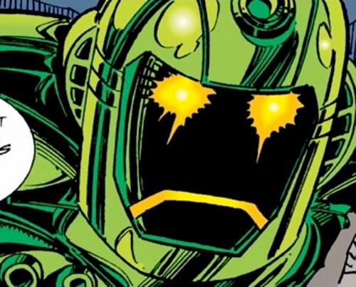 Titanium Man (Iron Man classic enemy) (Marvel Comics) helmet closeup