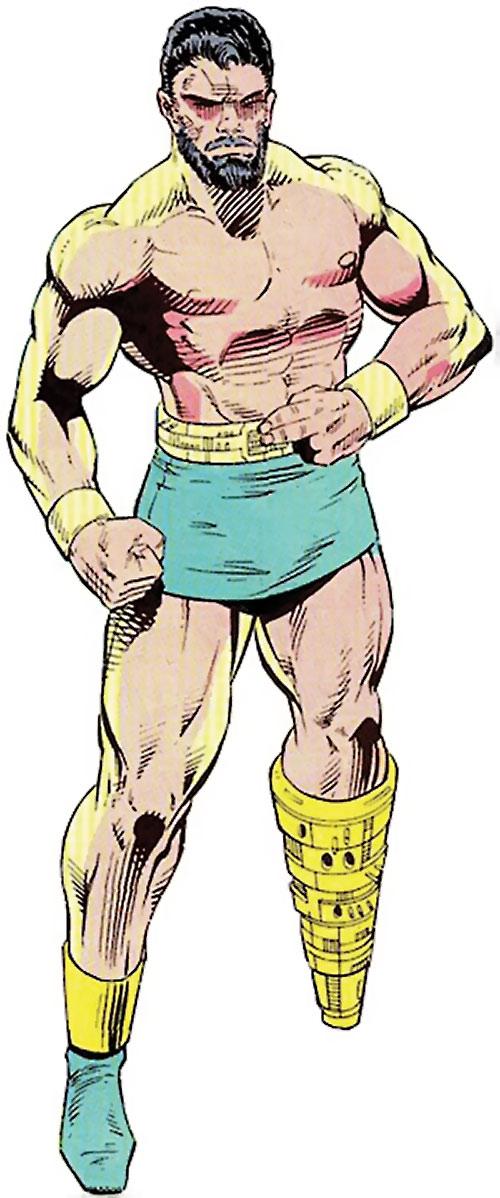 Titanium Man (Iron Man classic enemy) (Marvel Comics) in shorts with a leg prosthesis