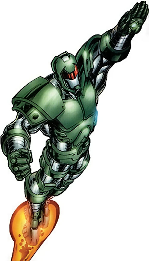 Titanium Man (Iron Man enemy) (Modern Marvel Comics) rocketing up