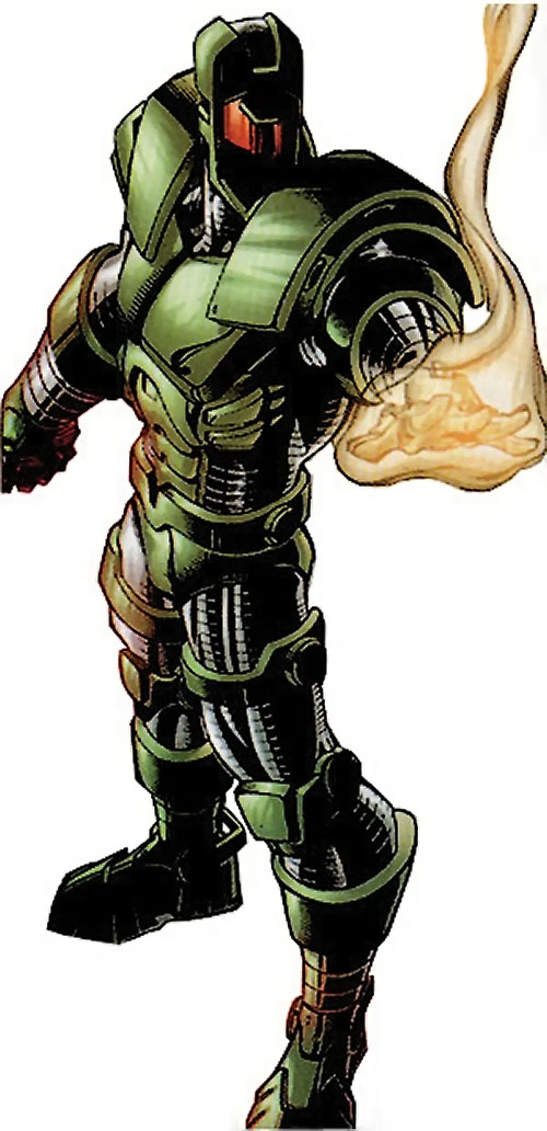 Titanium Man (Iron Man enemy) (Modern Marvel Comics) after firing a shot