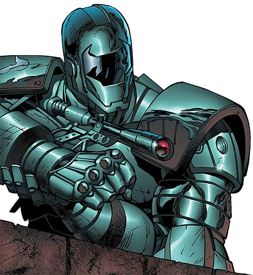 Titanium Man (Iron Man enemy) (Modern Marvel Comics) aiming with a scope