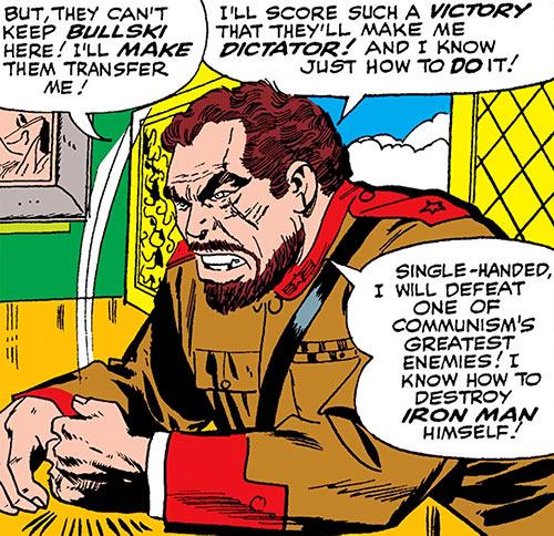 Titanium Man (Boris Bullski) at his desk