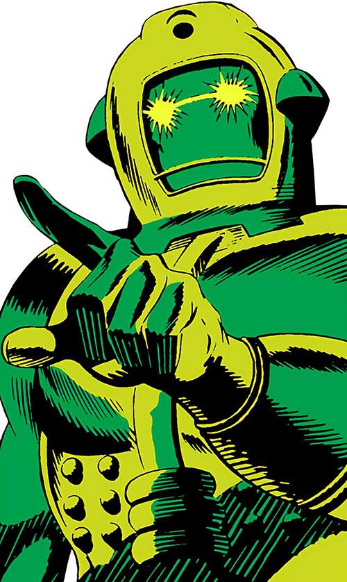 Titanium Man pointing his finger