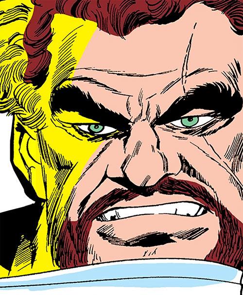 Titanium Man (Boris Bullski) face closeup