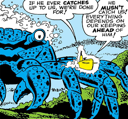 Titano the crab - Tales to Astonish - Marvel Comics - Chasing submarine