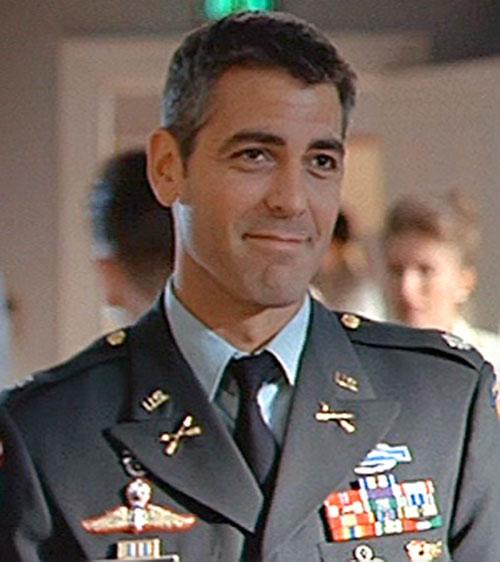 Tom Devoe (George Clooney in The Peacemaker) in a dress uniform