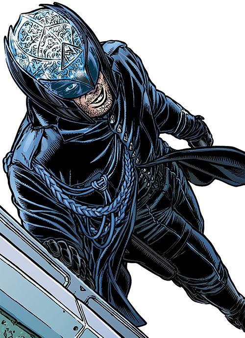 Tom Noir (Black Summer comics) in costume high angle shot