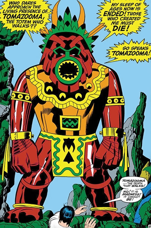 Tomazooma the Living Totem (Fantastic 4 character) (Marvel Comics) discovered by Wingfoot