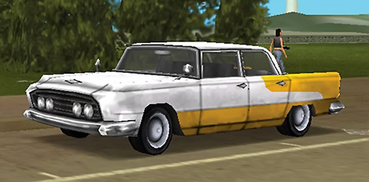 A two-tone car in GTA Vice City