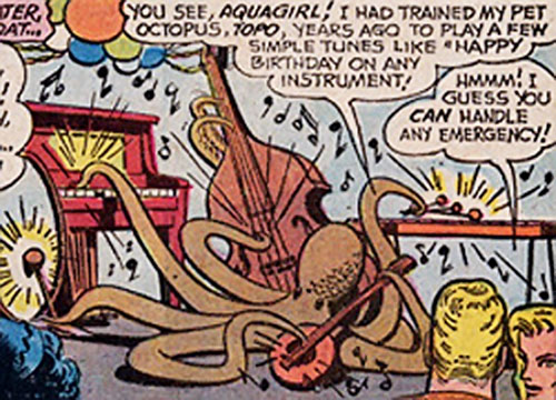 Topo the Octopus (Aquaman character) playing music
