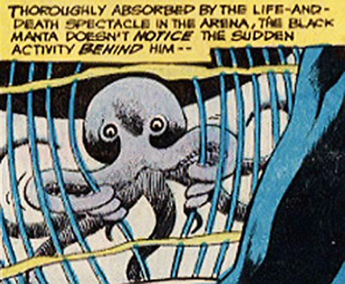 Topo the Octopus (Aquaman character) escaping from a cage
