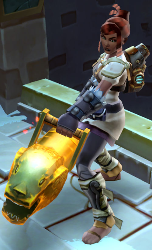 Torchlight 2 cannon engineer - Cannonball Rae - with her carronade