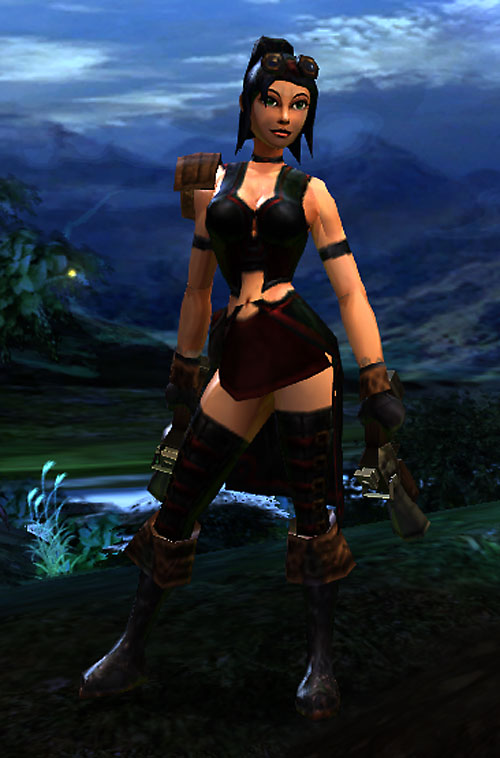 Vanquisher Torchlight video game - screenshot paired pistols