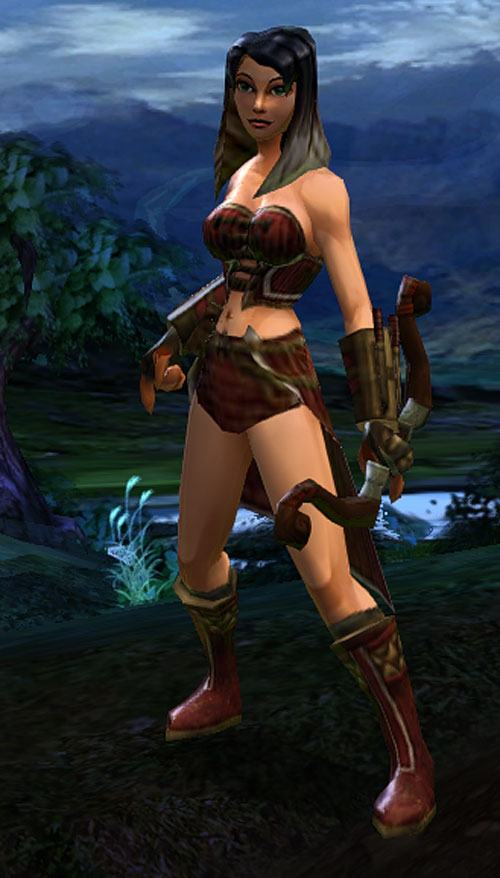 Vanquisher Torchlight video game - screenshot black hair