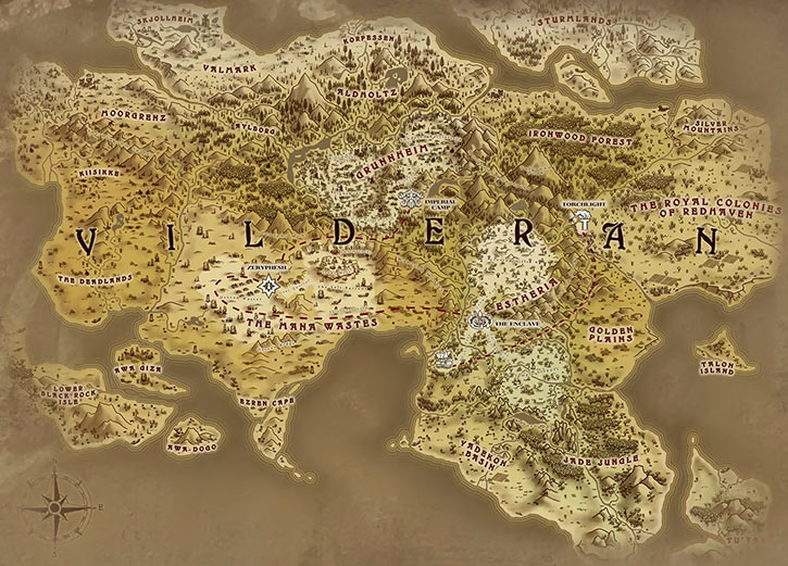 Torchlight II - big map of Vilderan