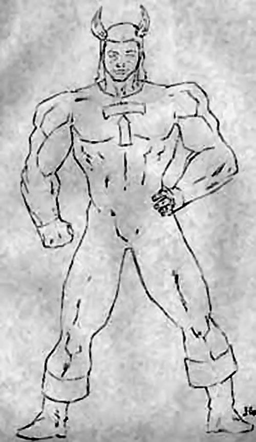 Toro (DC Heroes RPG) B&W sketch