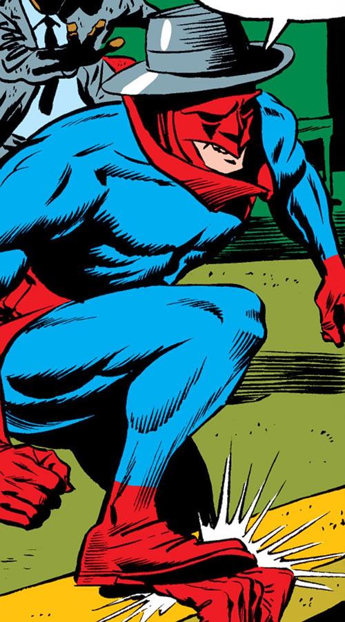Torpedo (Daredevil enemy) (Marvel Comics) stomps on DD's hand