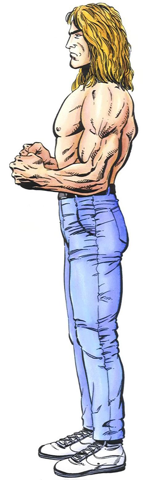 Torque of the Harbingers (Valiant Comics 1990s original) side view