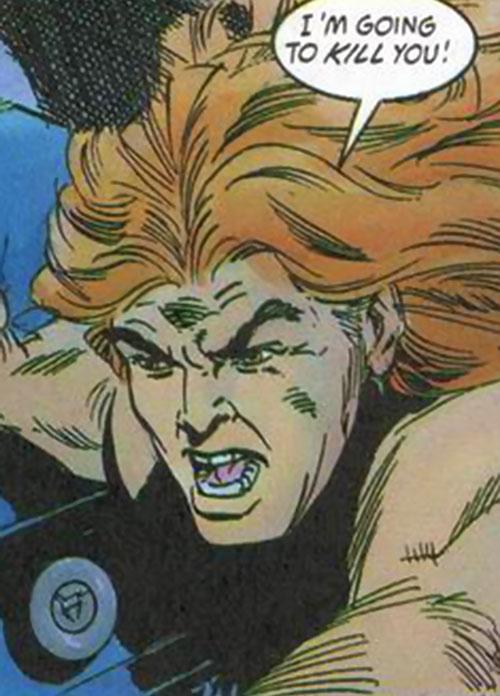 Torque of the Harbingers (Valiant Comics 1990s original) hostile face closeup