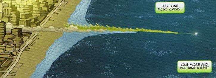 Transom running over water