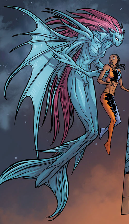 Transonic of Generation Hope (X-Men character) (Marvel Comics) alien fish form