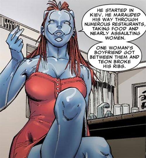 Transonic of Generation Hope (X-Men character) (Marvel Comics) red dress