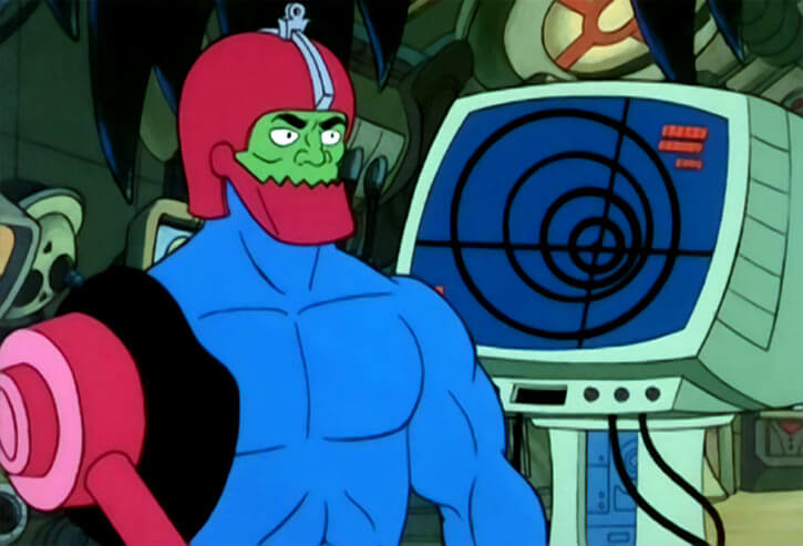 Trapjaw (Masters of the Universe 1980s cartoon) and radar screen