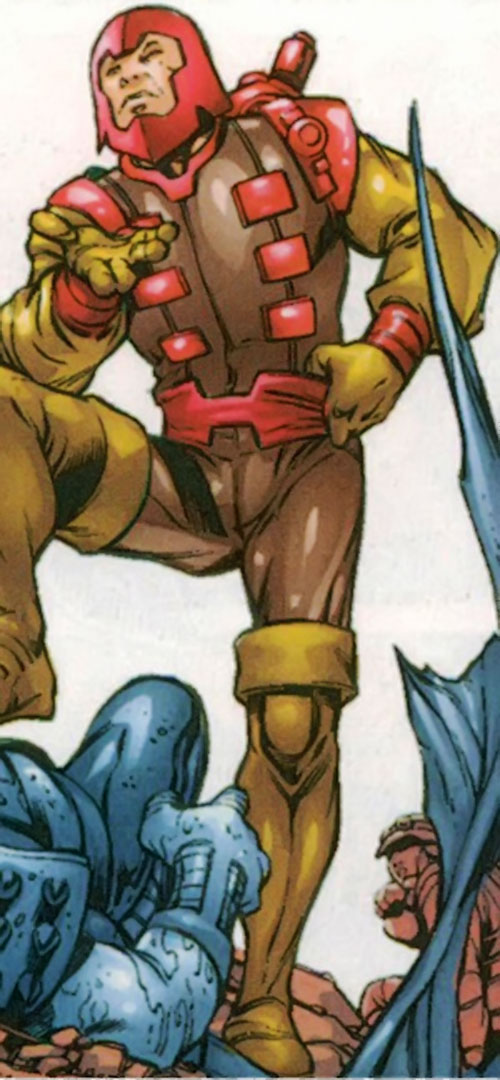 Trapster of the Frightful 4 (Marvel Comics) in the brown costume