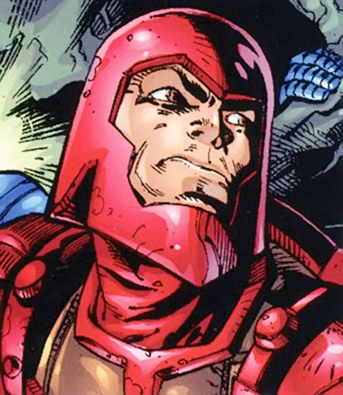 Trapster of the Frightful 4 (Marvel Comics) with his red helmet
