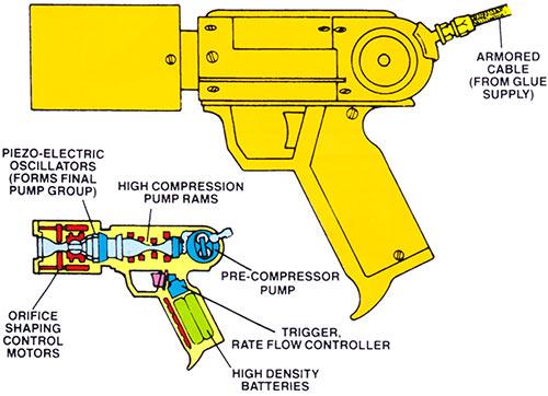 Trapster - Marvel Comics - Paste gun pistol schematics handbook