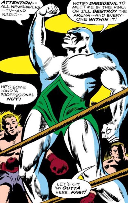 Tri-Man (Daredevil enemy) (Marvel Comics) in the ring