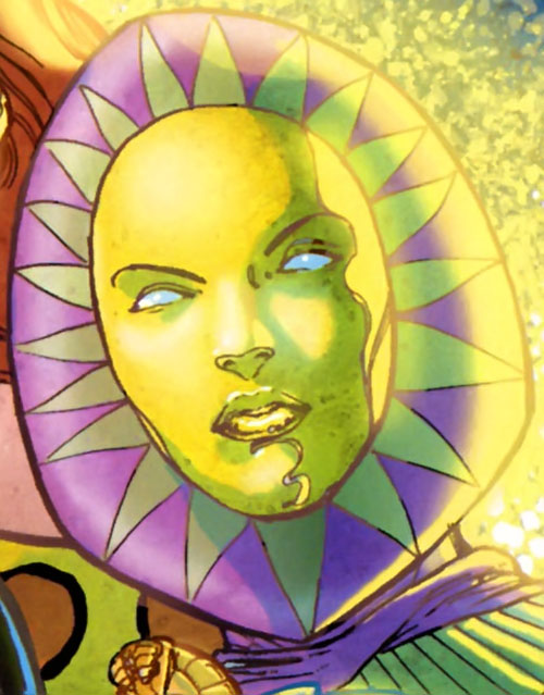 Trinity of Villainy Inc. (Wonder Woman enemy) (DC Comics) face closeup