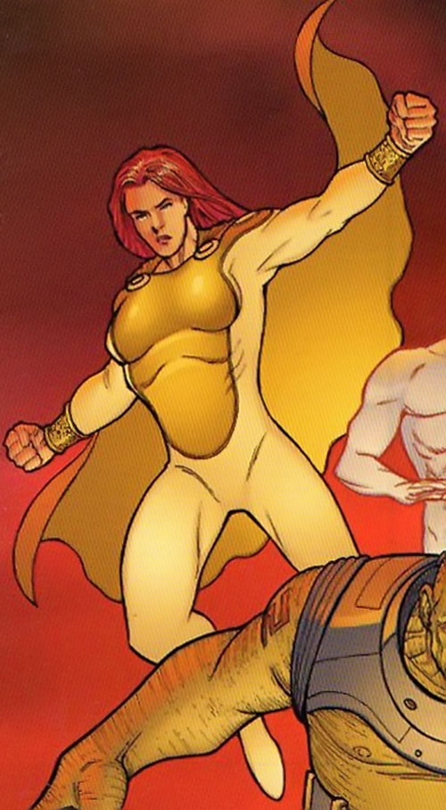 Triumph from Halcyon (Image Comics) red background