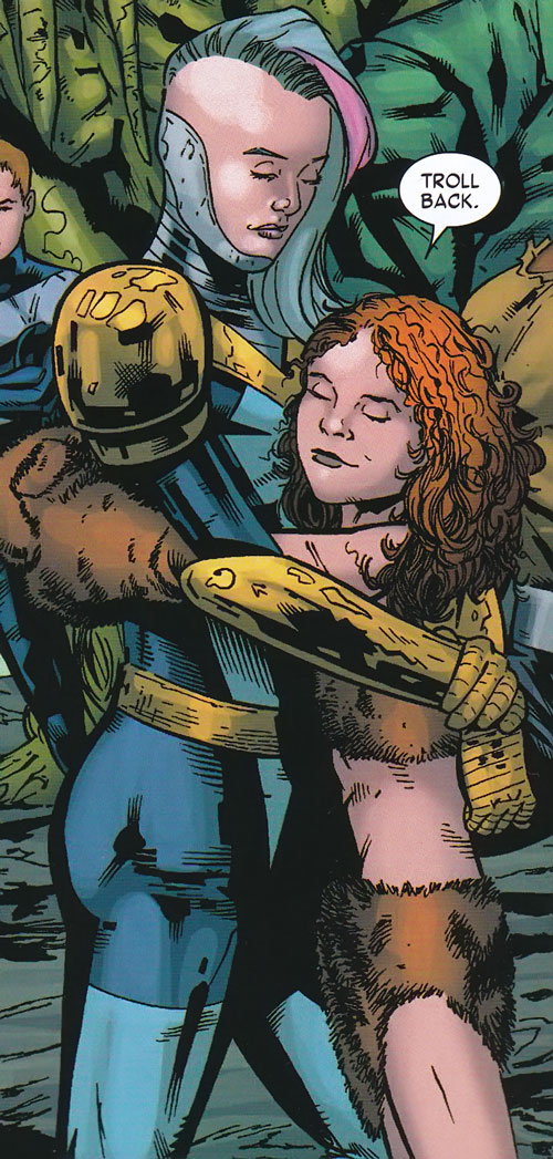 Troll of the Thunderbolts (Marvel Comics) with Songbird