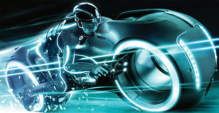 Lightcycle on a Tron Genesis poster