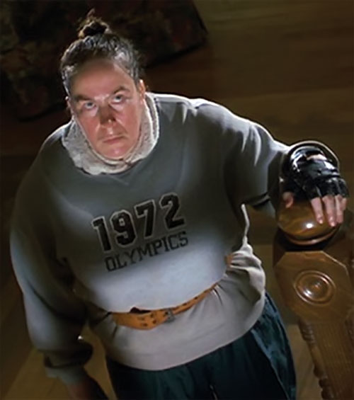 Trunchbull (Pam Ferris in Matilda) with a 1972 Olympics sweater