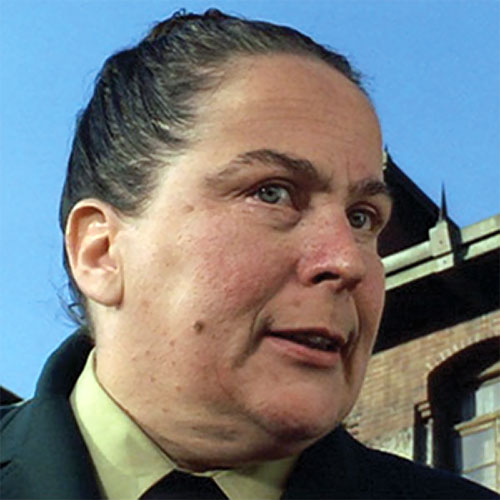 Trunchbull (Pam Ferris in Matilda) face closeup