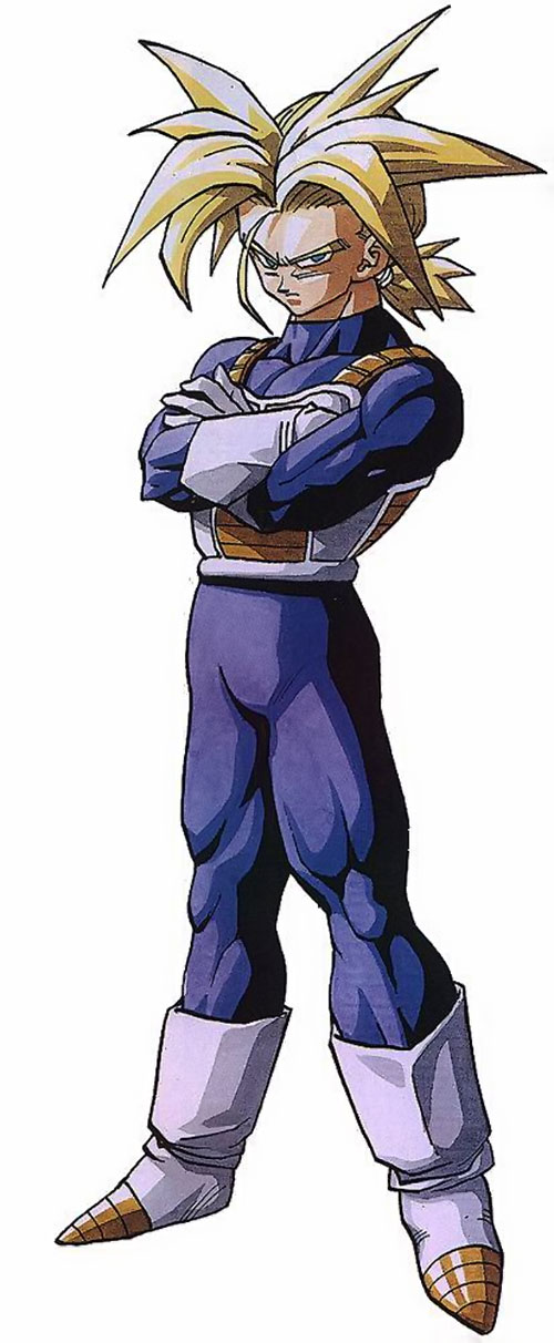 Trunks (Dragon Ball) (Androids future timeline) spiky blond hair