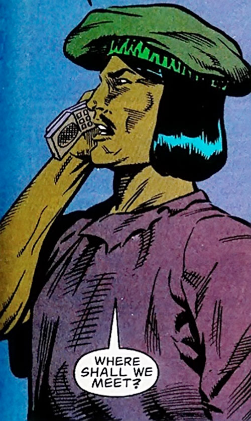 Tsunami (Butcher ally) (DC Comics) on the phone