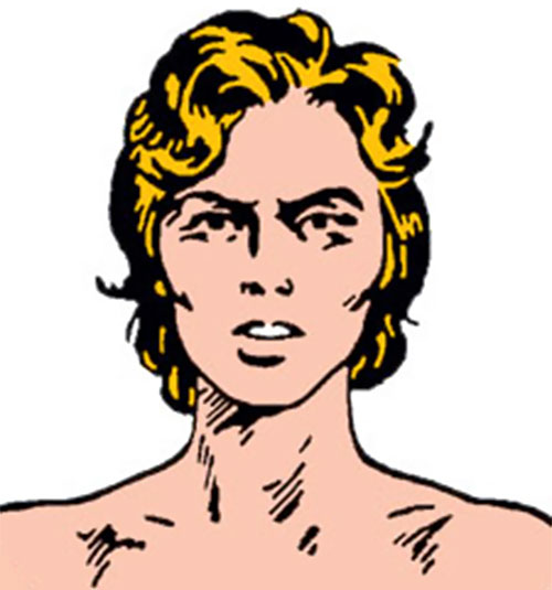 Tuk the Cave Boy (Timely Marvel Comics) face closeup