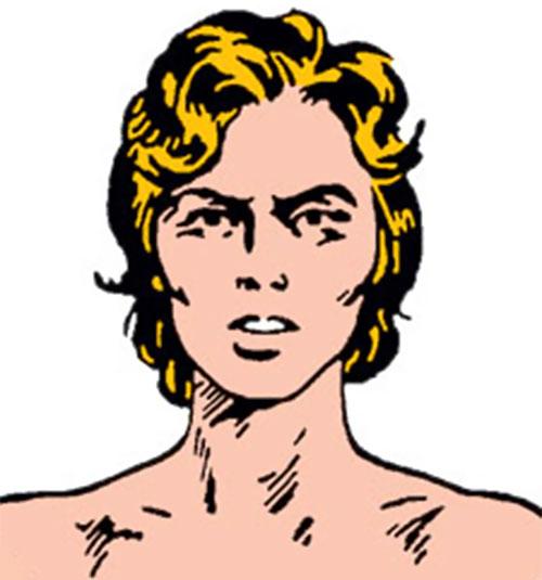 Tuk the Cave Boy (Timely Marvel Comics) face closeup