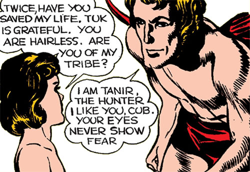 Tuk the Cave Boy (Timely Marvel Comics) talking with Tanir