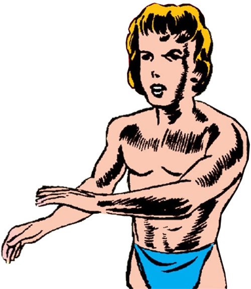 Tuk the Cave Boy (Timely Marvel Comics) blue loincloth
