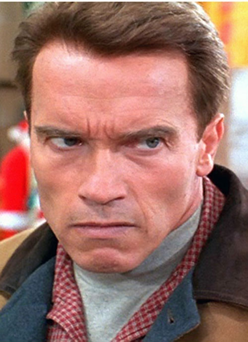 Turbo Man (Arnold Schwarzenegger in Jingle All The Way) is angry