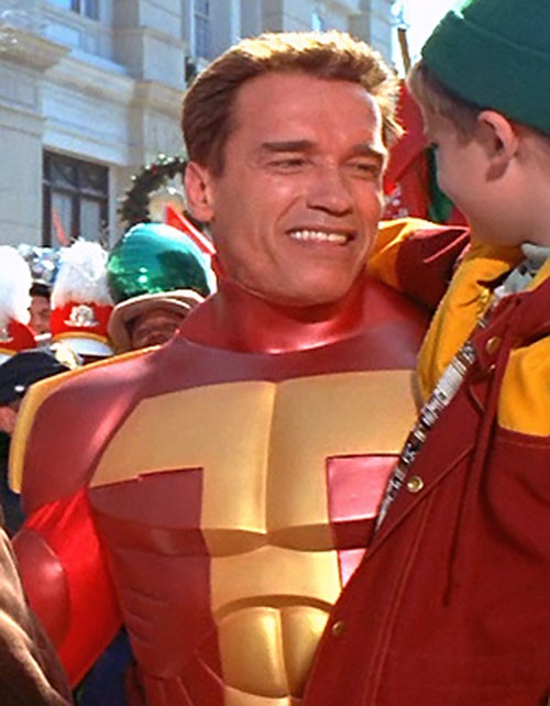 Turbo Man (Arnold Schwarzenegger in Jingle All The Way) with his helmet off